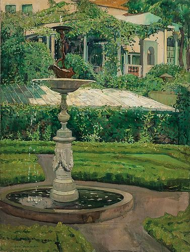 Jane Peterson (American, 1876-1965)      Elihu Vedder Fountain