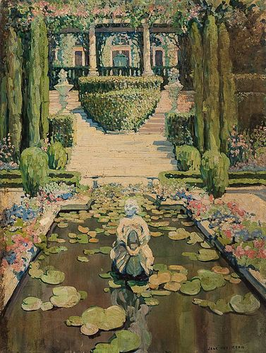 Jane Peterson (American, 1876-1965)      A California Garden