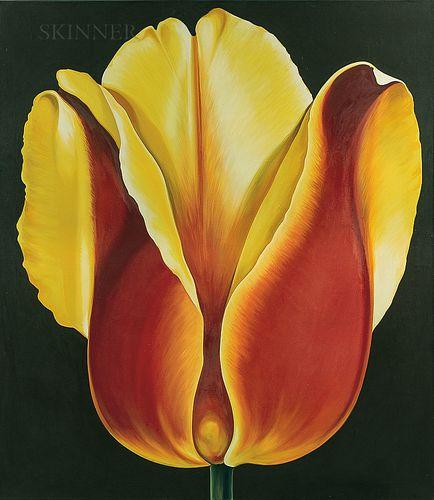 Lowell Nesbitt (American, 1933-1993)      Red and Yellow Tulip