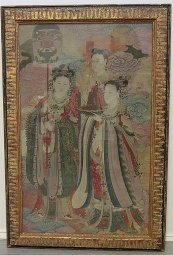 Framed Painting of (3) Figures.