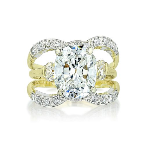 3.13-Carat Cushion-Shaped Diamond Ring
