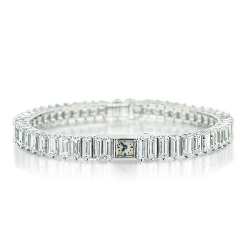 Art Deco Jaeger-LeCoultre Diamond Ladies Watch in Platinum