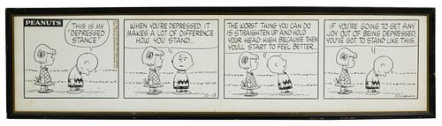 Charles Schultz (American, 1922-2000) 'Peanuts' Ink on Cardstock