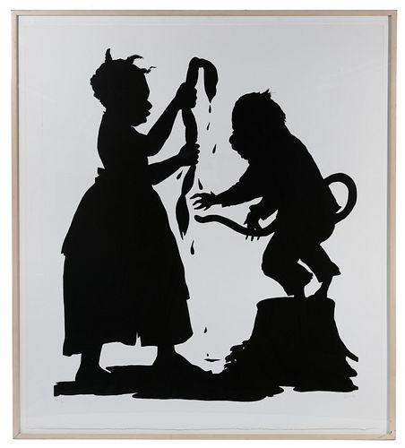Kara Walker (American, b.1969) 'I'll Be a Monkey's Uncle' Lithograph