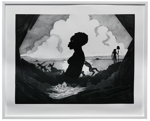 Kara Walker (American, b.1969) 'Resurrection Story without Patrons' Etching with Aquatint