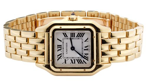Cartier 18k Yellow Gold Case and Band 'Panthere de Cartier' Wrist Watch