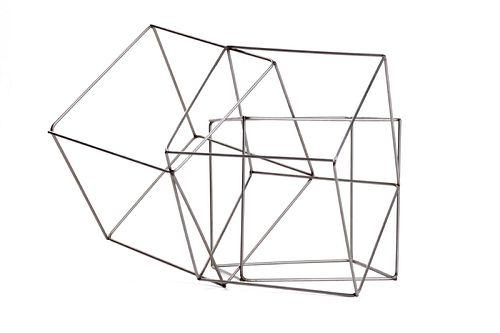 François Morellet (Cholet 1924)  - Trois cubes imbriqués, 1977