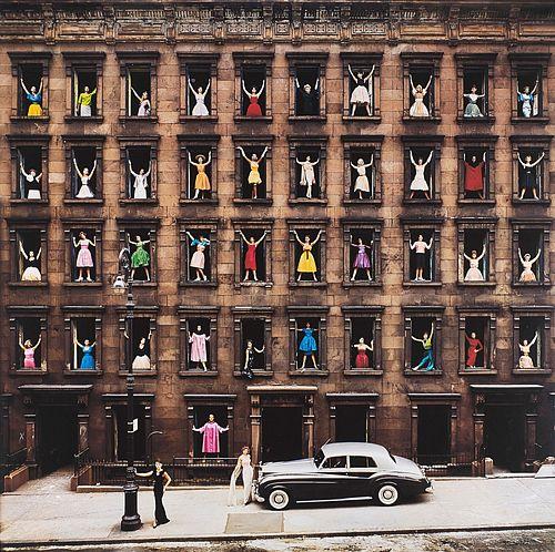Ormond Gigli (1925)  - Girls in the Windows, New York, 1960