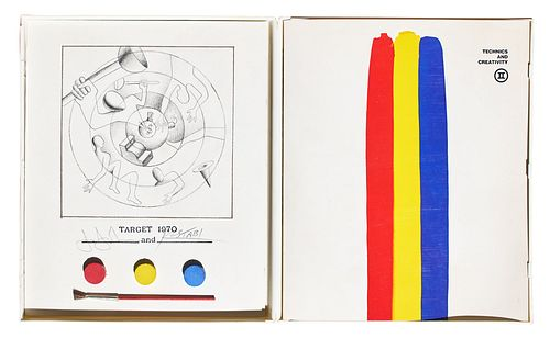 Jasper Johns & Mark Kostabi (American, 20th Century)