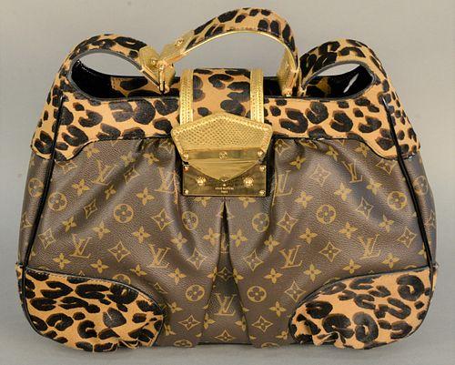 Louis Vuitton leopard print monogram handbag, 'Polly Leo' having original box, dust bag, tags and receipt, new price $3,940.