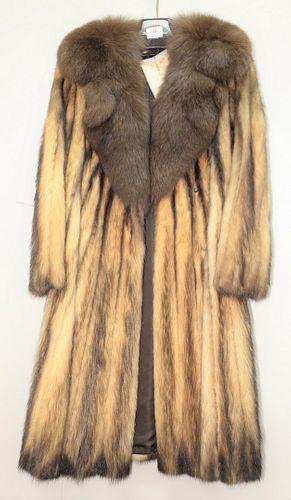 Custom Fitch Fur coat, full length.