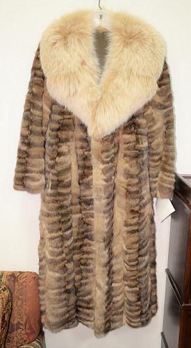 Custom full-length sable mink coat.