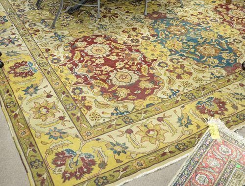 "Oriental carpet, 11' 3"" x 18', (som #7)."
