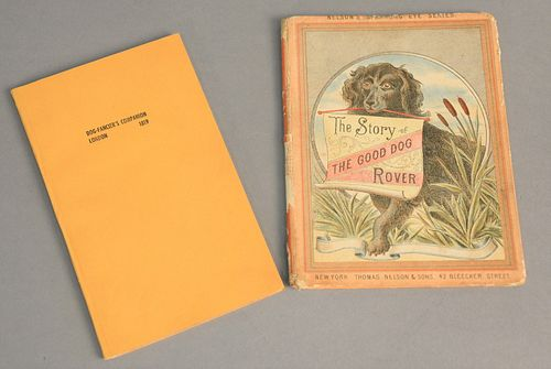 Two dog books to include The Story of Good Old Rover along with Dog Fancier, Companion London 1819.