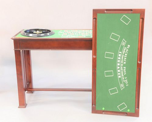 """Roulette table also with blackjack top, ht. 34.5"""", top 21"""" x 47"""""""