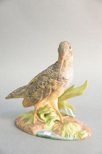 """Boehm """"Woodcock"""" porcelain sculpture #413, ht. 9 3/4""""."""