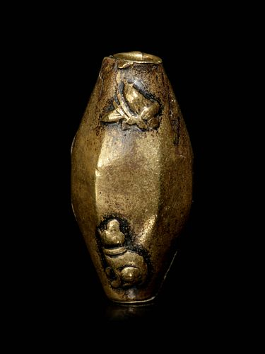 A Bronze Bead-Form Ojime