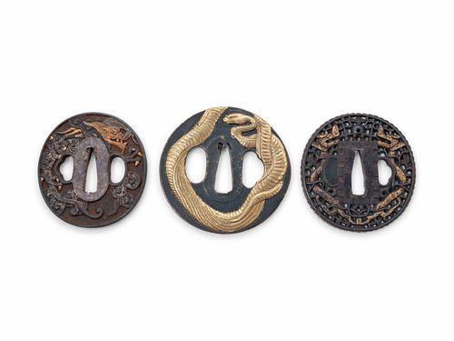 Three Iron Tsuba