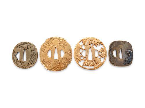 Four Metal Tsuba