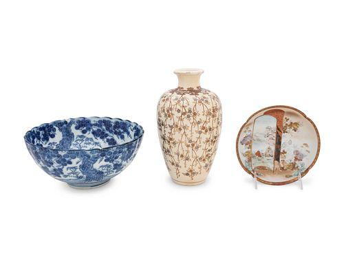 Three Porcelain Articles