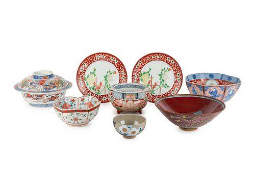 Eight Porcelain Articles
