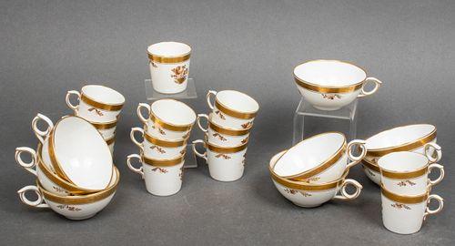 Royal Copenhagen Tea & Demitasse Cups, 20 Pcs