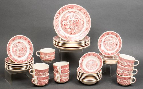 Royal China Red Willow Ware Partial Service, 41