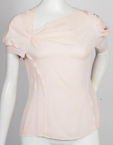 Nina Ricci Designer Silk Short Sleeve Top
