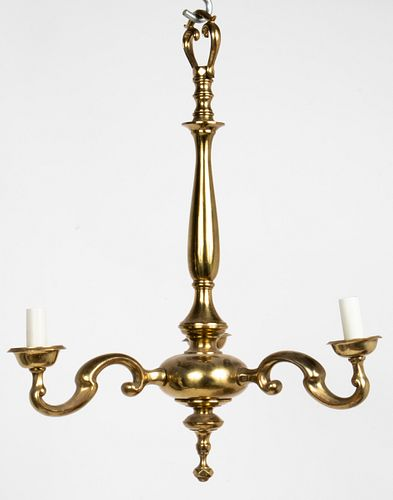 Traditional Brass 3-Arm Chandelier