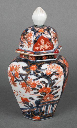 Japanese Imari Porcelain Covered Jar