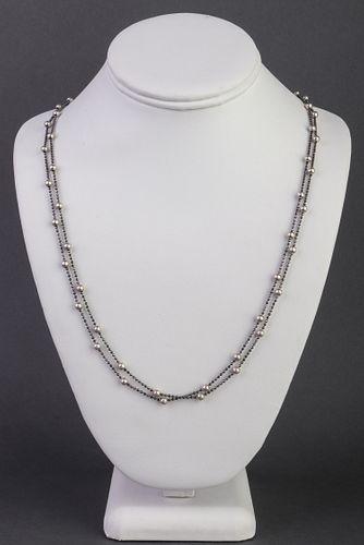 Jacmel Mauritius Designer Silver Hematite Necklace