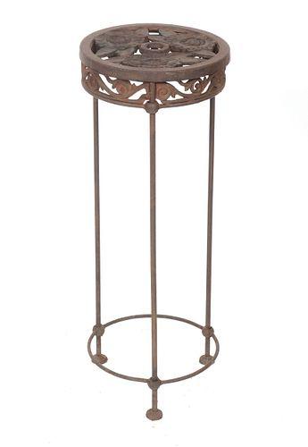 Floral Cast Iron Jardiniere Stand / Pedestal