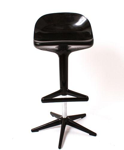 Modern Black Plastic Adjustable Height Stool