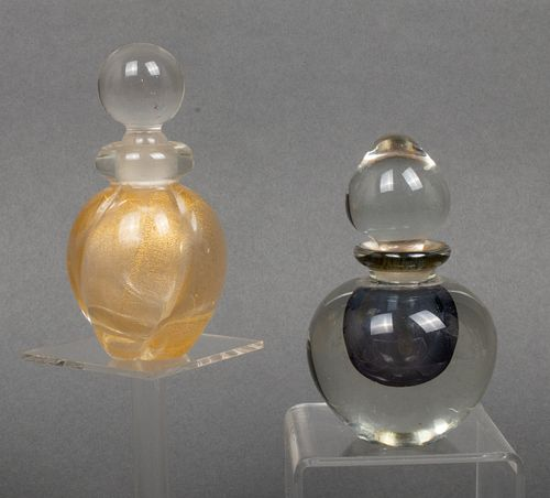 Seguso & Island Studios Glass Scent Bottles