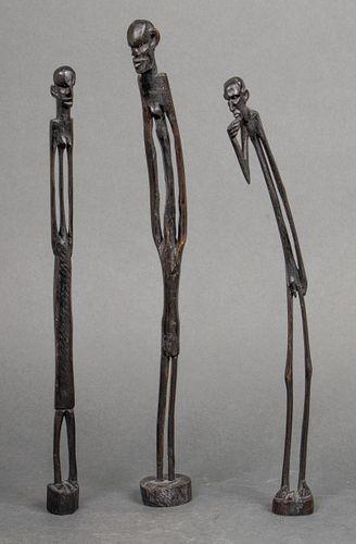 African Nyamwezi Style Stick People Figures, 3