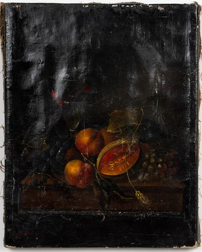 A. Lybauger Signed Still Life Oil, 19th C.