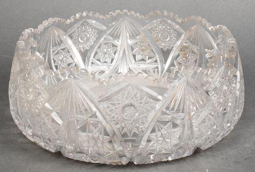 Large Cut Crystal Centerpiece Bowl