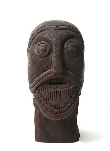 Petter Omtvedt Norwegian Carved Wood Head