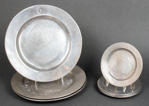Wilton RWP Pewter Plates, 7 Pcs.
