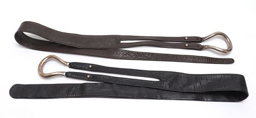 Peretti for Tiffany & Co. Sterling & Leather Belts