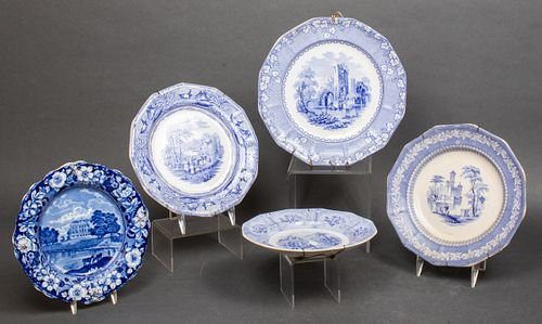 Staffordshire & Other Assorted Transferware Plates