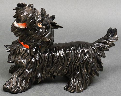 H. Schreiber German Porcelain Dog Sculpture