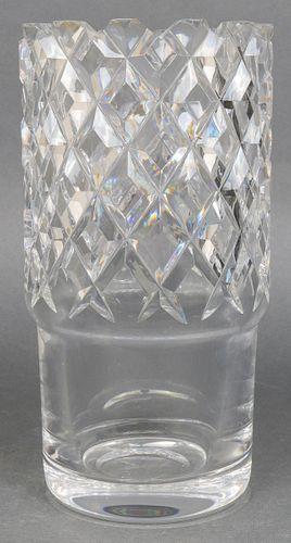 Orrefors Signed Cut Crystal Vase