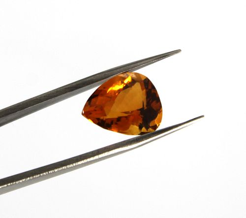 5.40 ct. Loose Pear-Cut Boca de Fogo Citrine Stone