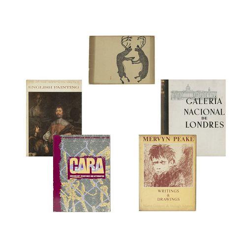 LOTE DE LIBROS SOBRE ARTE INGLÉS, ARTE AMERICANO Y CANADIENSE. a)  Álbum de a Galería Nacional de Londres. Piezas: 5.