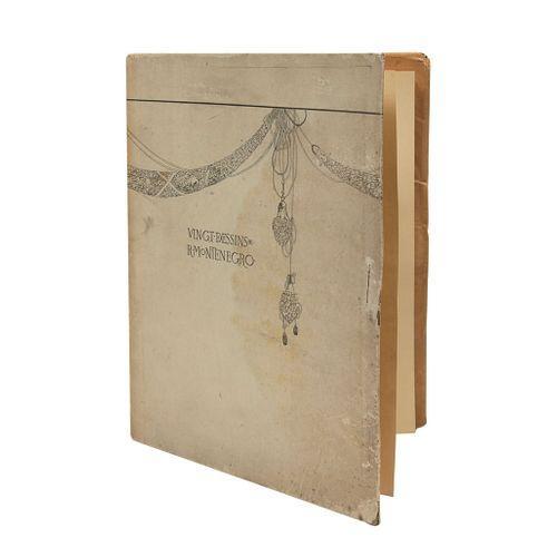 Roberto Montenegro. Vingt dessins de R. Montenegro.  20 láminas numeradas en carpeta. 33.5 x 26 x 1 cm.