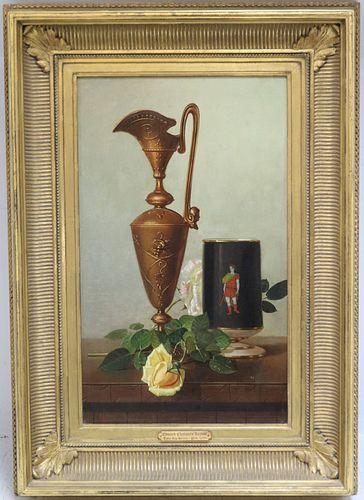 EDWARD CHALMERS LEAVITT (1842-1904, AMERICAN) OIL