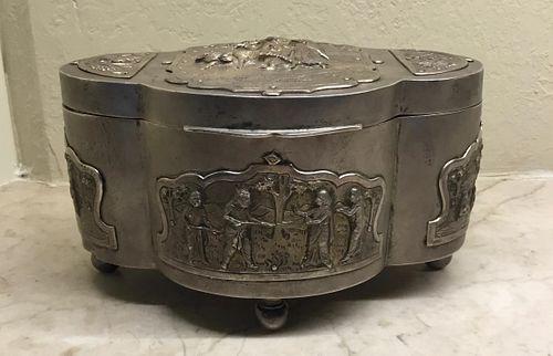 Burmese Silver Betel Nut Box, 19th Century