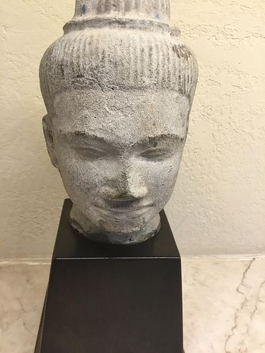 Bronze Head, Khmer, 10/12th Century