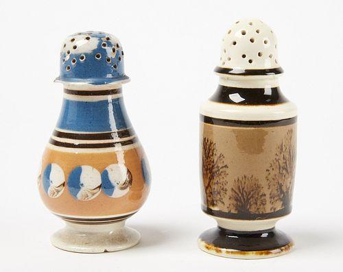 Two Mocha Pepper Pots